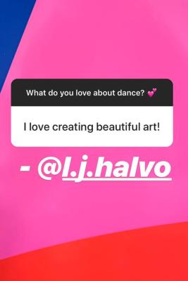 BYU Dance Instagram Story Response - Creating Beautiful Art