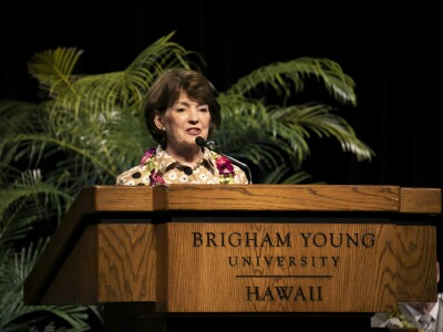 Susan Tanner gives a devotional at BYU–Hawaii