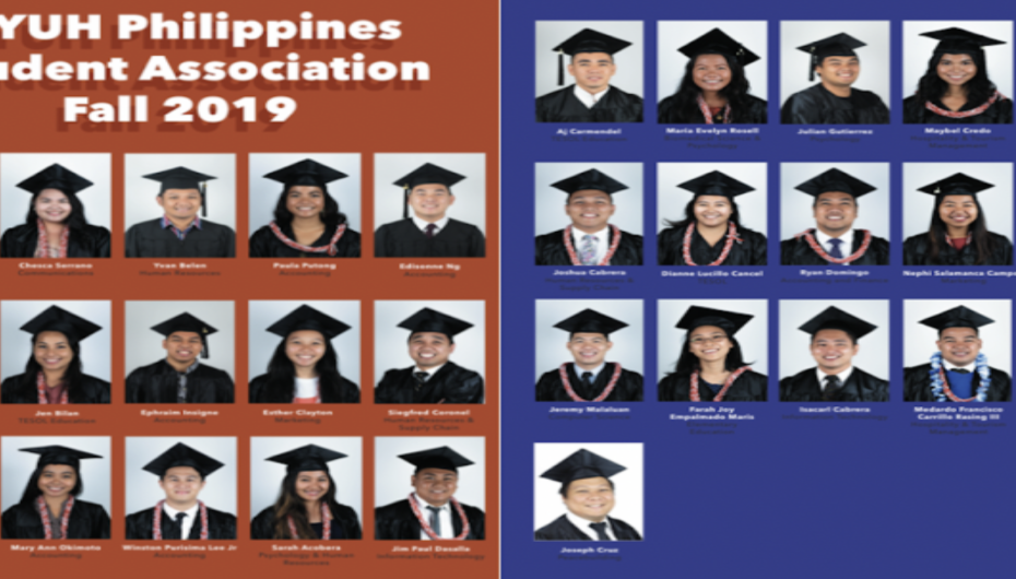 Pictures of all the graduating Filipinos during the Fall 2019 Semester