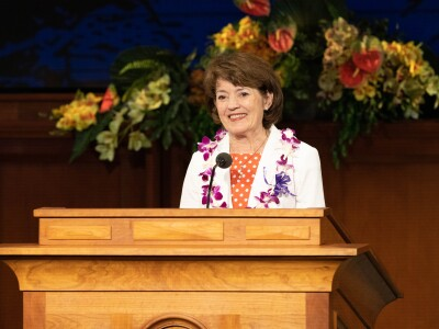 Susan W. Tanner at pulpit