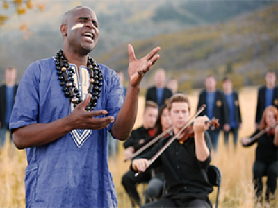 """BYU Men's Chorus and Alex Boyé find a perfect fit with """"Baba Yetu"""""""