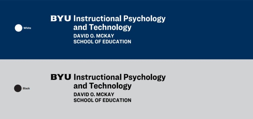 An image of byu insturctional psychology colors