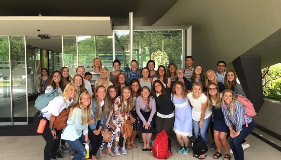 BYU Students Visit the World Health Organization