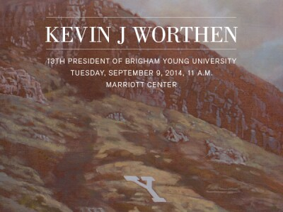 Inauguration of BYU President Kevin J Worthen to be September 9, 2014