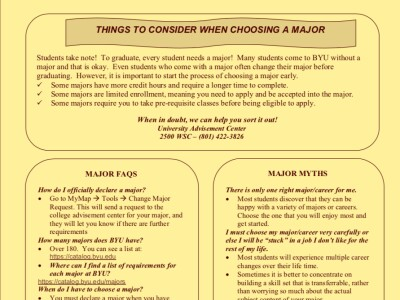 Things to Consider When Choosing a Major