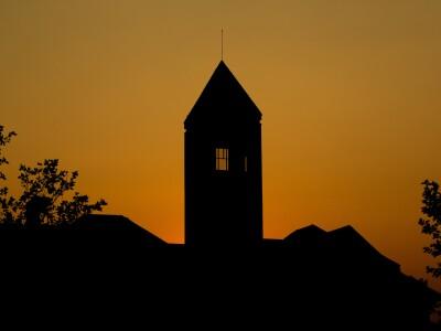 Hinckley Center at sunset