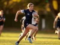 Rachel Strasdas on attack for the Blue team.