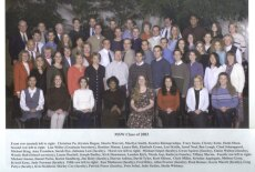 the MSW Class of 2003 poses for a photo