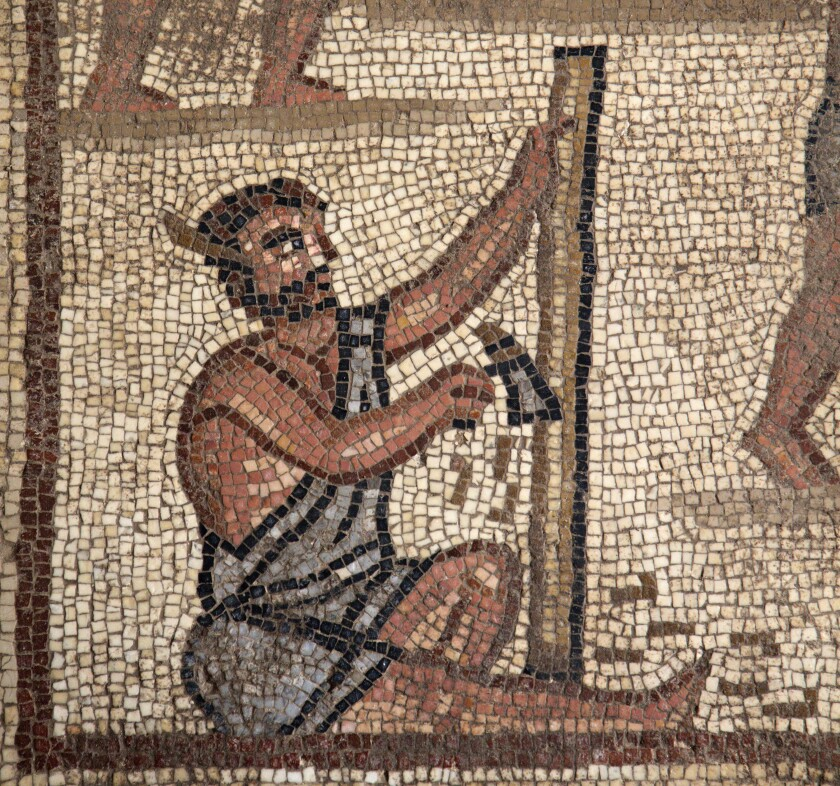 Mosaic Showing Construction of the Tower