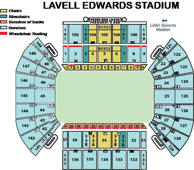 LaVell Edwards Stadium Seating