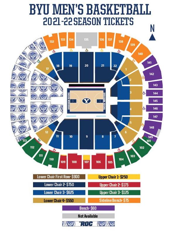 BYU Men's Basketball Season Tickets 21-22