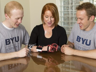 BYU students develop innovative prosthetic hand for a young mom