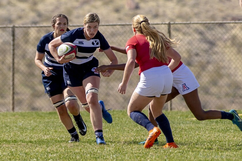 No. 8 Marion Morrow on attack for the Cougars vs Arizona March 7, 2020