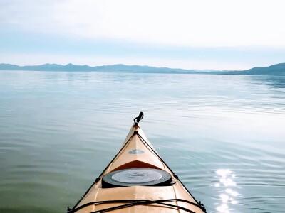 Image of kayak on Utah Lake