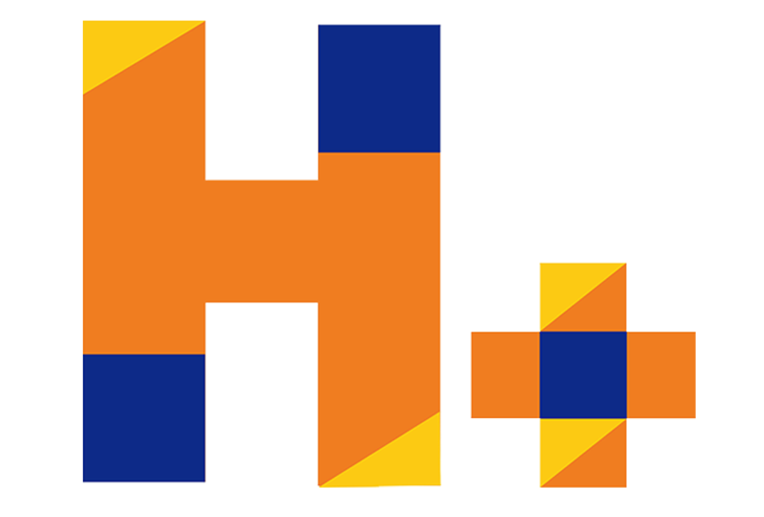 H Plus Logo White Bckd