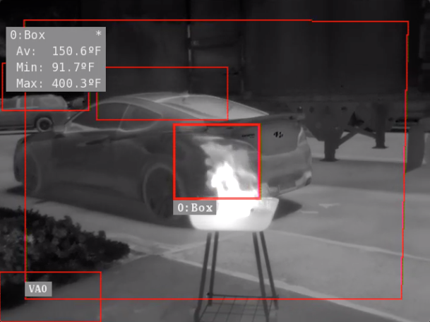 Thermal camera images.