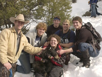 Cougars meet bears—and help out a fellow student—in research project