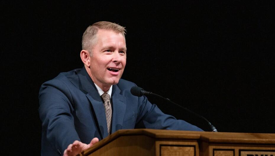 Spencer Fluhman speaks at BYU Devotional