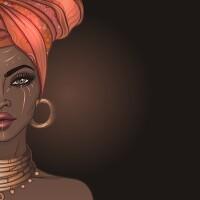 illustration of black woman