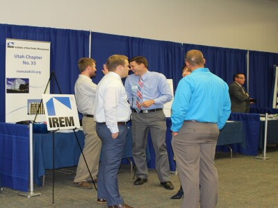 Facilities Management students at a career fair