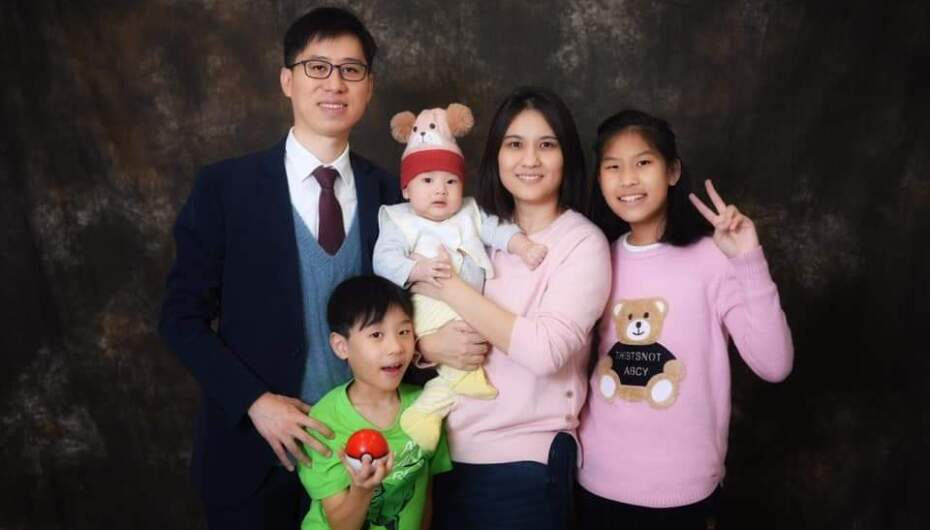 Jared Wong and his family