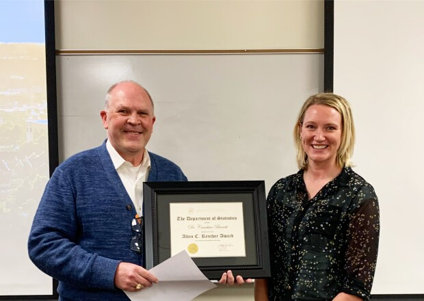 Dr. Berrett Recieving the Alvin C Rencher Award