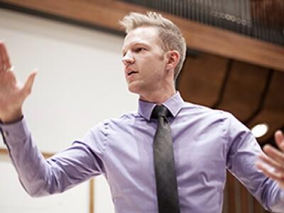 Concert Choir director, Matthew Nielsen