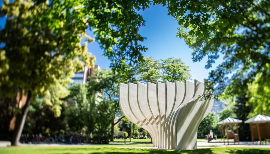 The Tree of Wisdom statue on BYU's campus