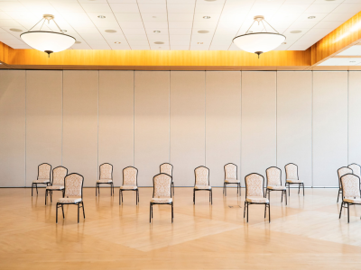 chairs in ballroom