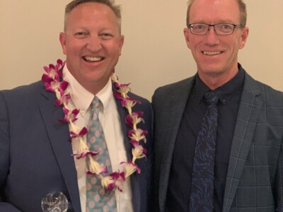 Greg Jolley receives 2019 Leadership Award from Lawn & Landscapes Organization