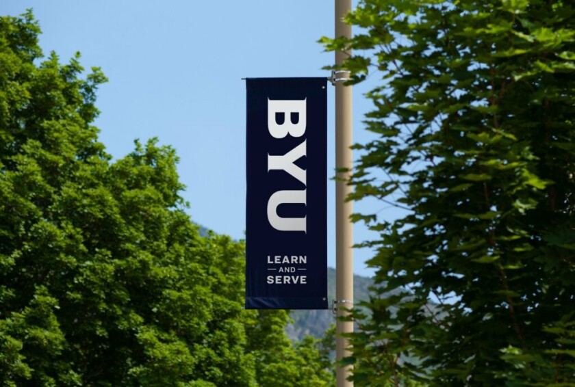 An image of a BYU learn and serve banner