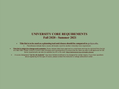 University Core