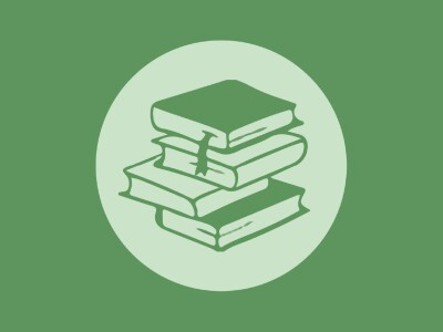 Stacked books art graphic