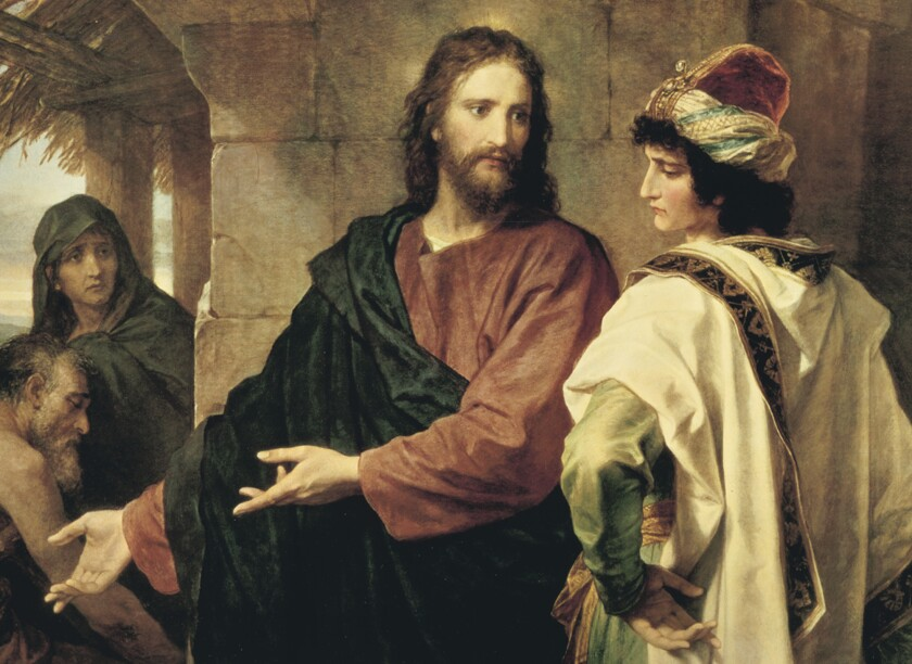 Portrait of Christ and the Rich Young Ruler