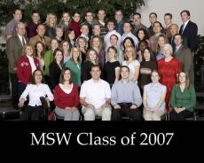 the MSW Class of 2007 poses for a photo
