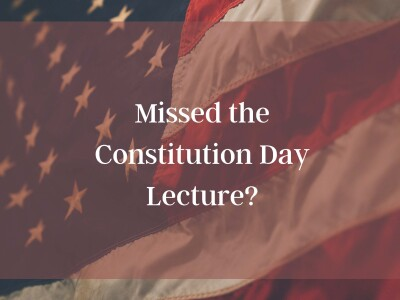 Watch the 2020 Constitution Day Lecture by Dr. Anna O. Law