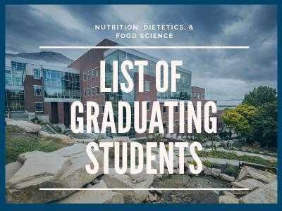 Listing of Graduating Student Names