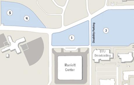 Marriott Center Parking Map