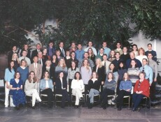 the MSW Class of 2002 poses for a photo