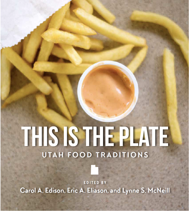 This is the Plate book cover, with fries and dipping sauce as the background image.