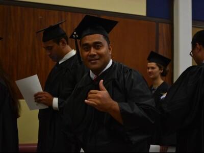 Maafu Latu Vaki on his graduation day
