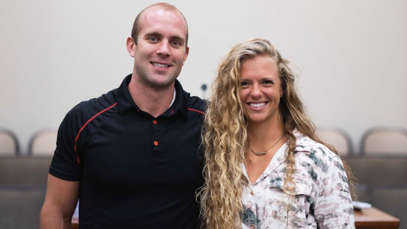 Tom and Tara McBride at the Women in Business Panel.