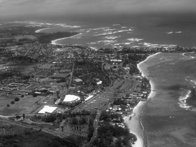 Image of an aerial image of Laie, Hawaii