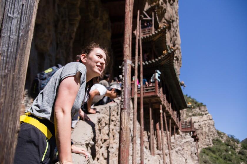 2018_Weidman_China_Climbing a Cliffside