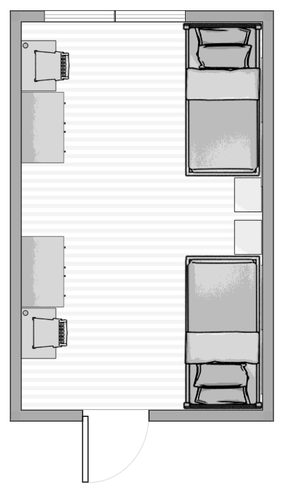 overview of a hale 2 bedroom plan